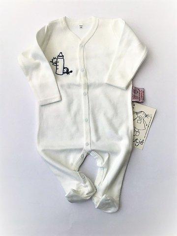 Baby kruippakje met voetjes wit maat