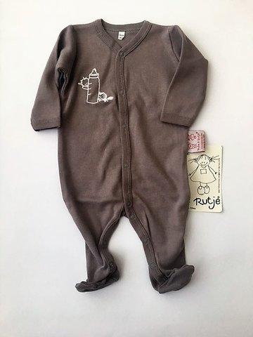 Baby kruippakje met voetjes taupe  maat